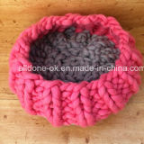 Chunky main Chunky Knit Dog Pet Mat Wool Blanket Bed