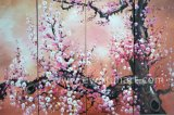 Pittura a olio dipinta a mano di Abstract Plum Blossom Flower su Canvas Large Modern Wall Art Decoration