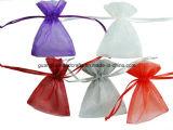 주문 다채로운 Organza 졸라매는 끈 선물 주머니