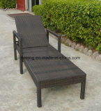 A sala de estar ao ar livre impermeável durável do Chaise da sala de estar de Sun da mobília do jardim com ajusta para trás mais &Armrest (YTF242)