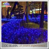 Luz colorida do sincelo da corda do diodo emissor de luz Natal ao ar livre/interno da decoração