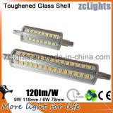 Alto lumen LED R7s 78m m 6W para substituir el halógeno R7s en el Fixures de interior por CE