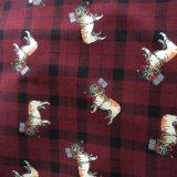 100% tela de franela de algodón impreso para damas pijamas