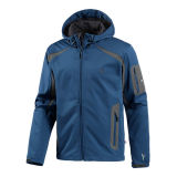 Mens High Collar Zip su Blue Polar Fleece Jacket