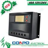 40A、12V/24V、LCDのPWMの太陽コントローラ