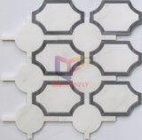 Made di marmo 10mm Thickness Water Jet Mosaic Design