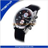 Рук вахты 3 Caseback нержавеющей стали способа мира Wristwatch ультрамодных автоматический