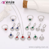 Zirconの63544最新のFashion Luxury Sillver-Plated Female Jewelry Set