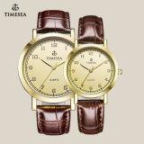 Gemerkt Horloge 70014 van de Minnaar van het Paar van het Leer van de hoogste Kwaliteit Echt Pols