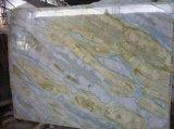 Beau marbre en pierre normal de ciel bleu, marbre bleu pour la pièce de douche