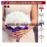 Décor nuptiale artificiel en cristal de mariage de demoiselle d'honneur de bouquet de Rose de mariage (W1059)