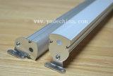 Canaleta/extrusão/perfil de alumínio circulares para a fita do diodo emissor de luz da carcaça
