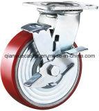 Roulette industrielle, unité centrale sur la roulette Whel, roulette résistante de fer de fonte