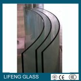 Vidro temperado contínuo da forma da estrutura e da curva