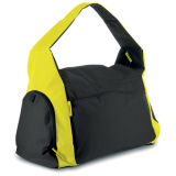 Polyester Gym Bag Weekend Bag with Cooler Pocket for Drink