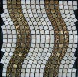 住宅建設の物質的な水晶壁のタイルの大理石の石のモザイク(FYSMG136)