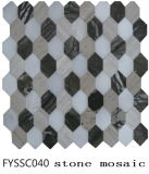 Spätestes natürliches sechseckiges Steinmosaik 2016 für Fernsehen-Wand-Fliese (FYSSC040)