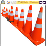 Cone do tráfego da segurança de estrada do sinal de aviso do sinal de tráfego da barreira do tráfego do cal de 28 polegadas
