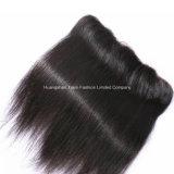 Hairpieces libres droits de face de base en soie noirs de lacet de pièce des accessoires 4*13