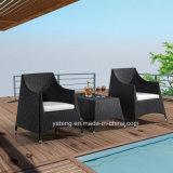 Konkurrenzfähiger Preis Sythetic Rattan-im Freiengarten-gesetztes Kaffee-Set Usded im Balkon durch Chair u. Kaffeetisch (YT280)