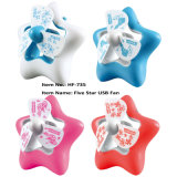 Cartoon Style Five Stars Rechargeable Mini Table Fan