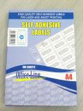 Escrituras de la etiqueta imprimibles de la hoja A4 del espacio en blanco de envío del precio auto-adhesivo de la escritura de la etiqueta