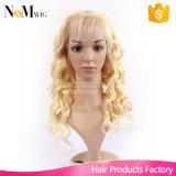 백금 금발 가발 사람의 모발 가득 차있는 레이스 613 금발 색깔 머리 사람의 모발 가발 백인 여자, 최고 자연적인 보는 가발