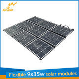 9*35W Sunpower Flexible Portable Zonnepaneel