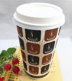 бумажный стаканчик 16oz Disposable Single Wall Coffee с Lids/Cover