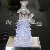 Étalage acrylique transparent de résine de polyester/la résine acrylique de base ronde de polyester/signe acrylique