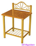 현대 황금 나무와 금속 침대 탁자 Nightstand (001#golden)