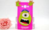 Grande caisse de téléphone de dessin animé de silicones du monstre 3D d'oeil pour la couverture mobile d'iPhone (XSD-043)
