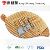 Bamboo доска сыра листьев и комплект инструмента