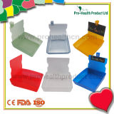 Cassetto funzionante del recipiente di plastica della vaschetta di caso del laboratorio dentale con la clip (pH09-069)