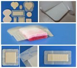 Non-Woven/PU Backing Silicone Foam Dressing für High Exudate Wound Treatment
