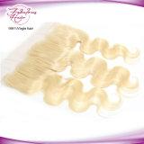 Frontal brasileño del cordón del pelo del pelo humano 13X4 de la onda de la carrocería