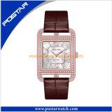 Orologi di lusso delle donne astute con i diamanti brillanti