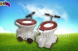 Spiel-aufblasbares Toiletten-Auto laufend, reitet Toiletten-Fahrten, Toilette Auto