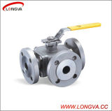 Sanitaire en acier inoxydable Three Way Ball Valve