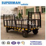 reboque Flatbed de serviço público da barra de acoplamento da carga do transporte da bagagem 5t