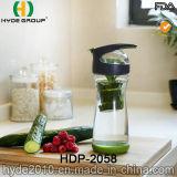 Свежие BPA освобождают высокую бутылку Infuser плодоовощ боросиликатного стекла, популярную стеклянную бутылку воды (HDP-2058)
