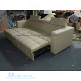 Modernes Art-Leder-Funktions-Sofa-Bett für Wohnzimmer (HW-6919S)
