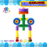 ブロックのおもちゃの知的なおもちゃは、多彩なプラスチック机おもちゃを妨げる
