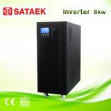 Grote Power Capacity 8000W Solar Inverter 48V/72V gelijkstroom