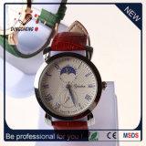 Relógio de quartzo do relógio de pulso do couro do bracelete de relógio de 2016 mulheres (DC-2032)