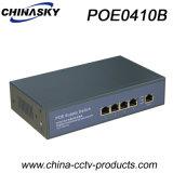 interruptor do ponto de entrada 10/100Mbps com 4 portas e 1 Uplink RJ45 (POE0410B)