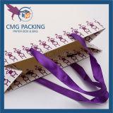 Saco de compra de papel impresso costume com melhor preço (DM-GPBB-088)