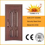 Puerta de acero precio barato Exterior de Seguridad (SC-S184)