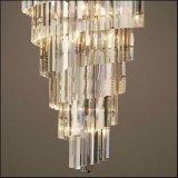Lampada Pendant di cristallo di lusso di figura di cono dell'ingresso dell'hotel grande