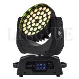 luz principal móvil de la viga LED del zumbido de la colada de 36X18W RGBWA+UV 6in1